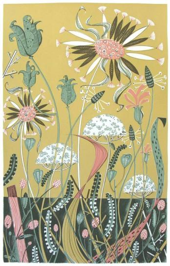 Angie Lewin Wild Garden II