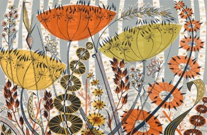 Spey Birches Print by Angie Lewin