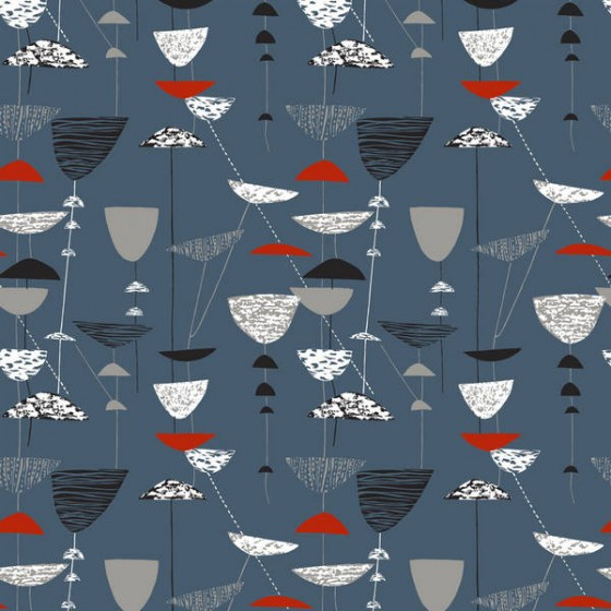 Lucienne Day: Calyx Blue