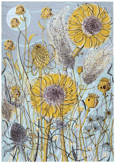 Angie Lewin Autumn Garden Norfolk