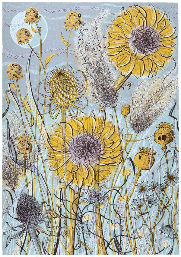 Angie Lewin Autumn Garden Norfolk