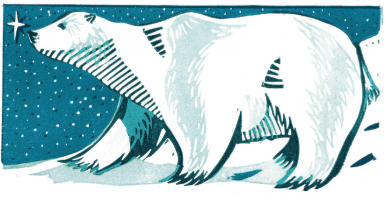 Paul Cleden Polar Bear Christmas Card