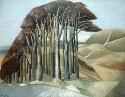 Wood on The Downs Print by Paul Nash