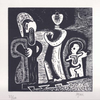 The Family Trio Print by Eileen Agar