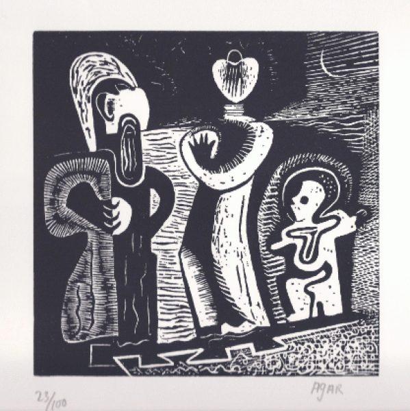 The Family Trio Print by Eileen Agar