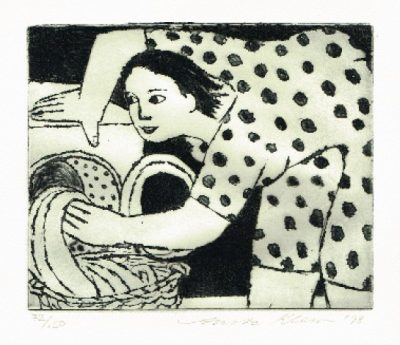 Doing the Washing Print by Anita Klein