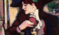 John Duncan Fergusson, The Blue Hat, Closerie des Lilas, 1909, Oil on canvas, City Art Centre, City of Edinburgh Museums and Galleries; purchased from Margaret Morris 1962, © The Fergusson Gallery, Perth & Kinross Council, Scotland