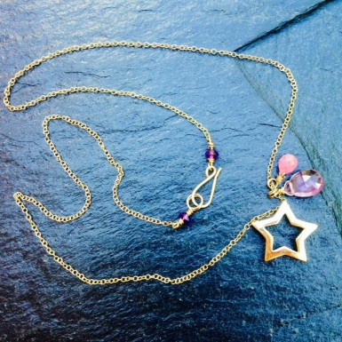 Claire van Holthe: Pink Sapphire & Amethyst Star Necklace