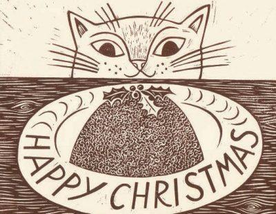 emily sutton christmas cat card