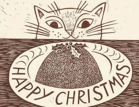 emily sutton christmas cat card