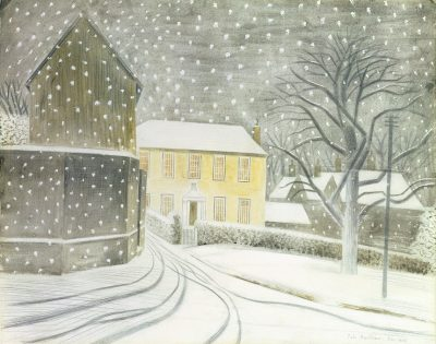 ravilious halstead road in snow