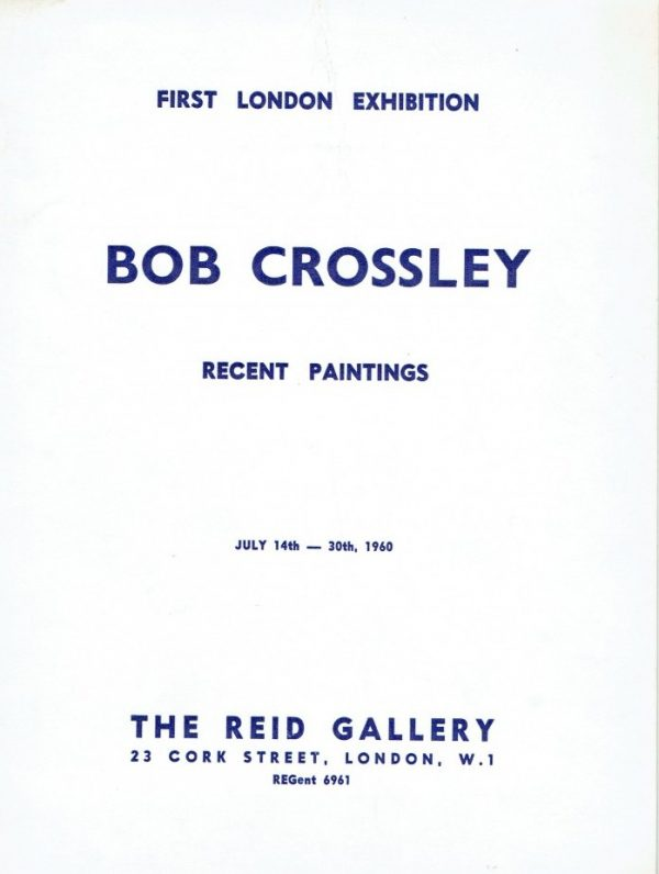 Bob Crossley Recent Paintings