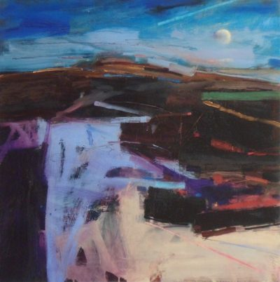 Peter Iden Evening Landscape with Moon Rising