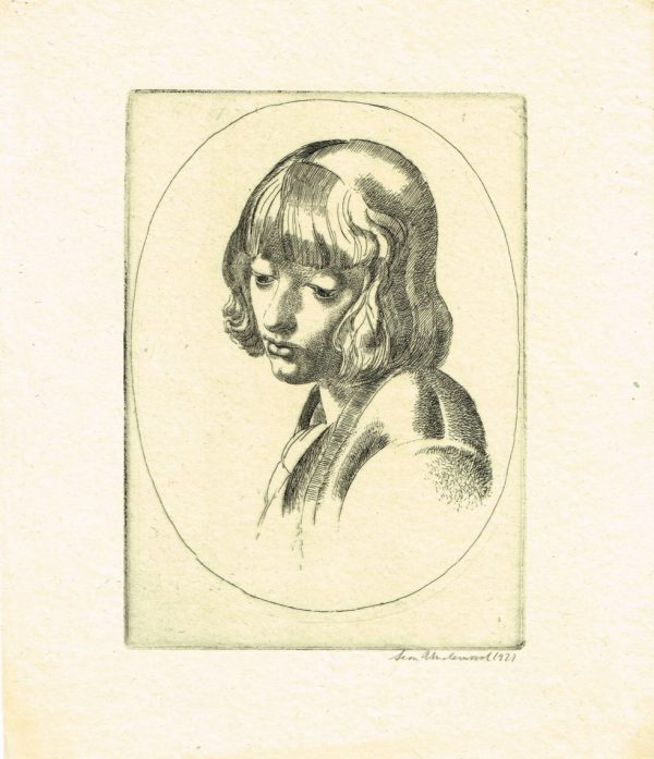 Leon Underwood Girl's Head