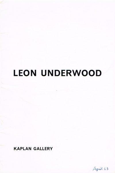 Leon Underwood sculpture 1963