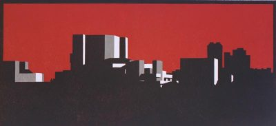 Southbank Umber print by Paul Catherall