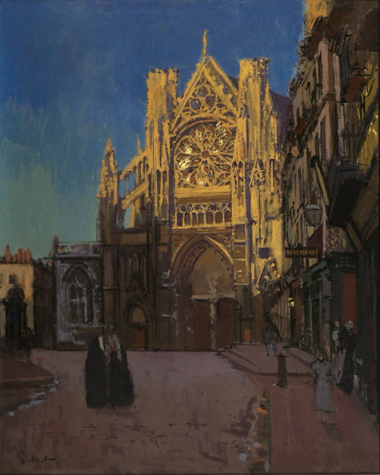 Walter Sickert, The Façade of St Jacques, Dieppe, 1 902, oil on canvas, , private collection courtesy of Fine Art S ociety