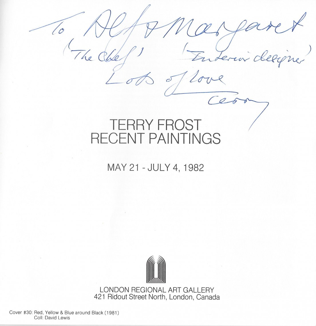 Terry Frost Inscription