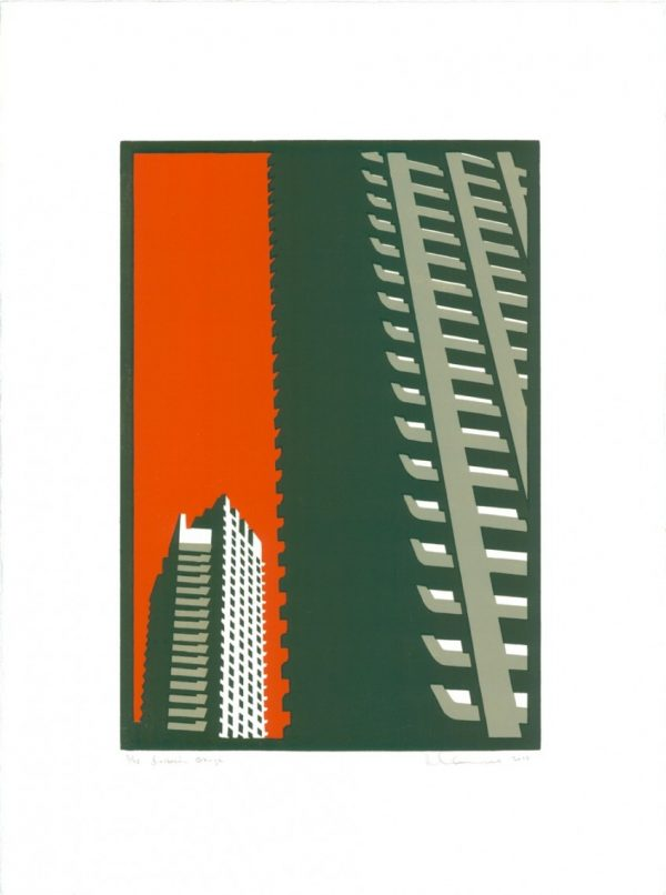 Barbican Orange print by Paul Catherall