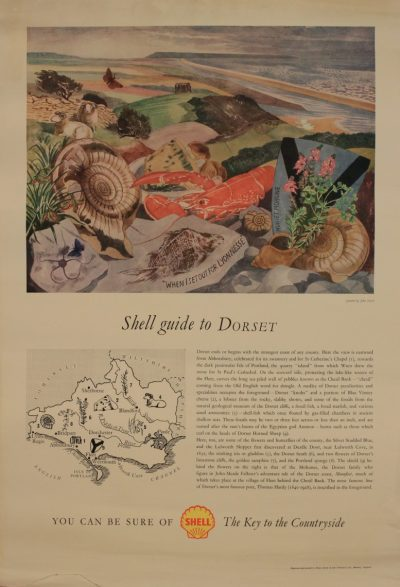 Shell Guide to Dorset Poster