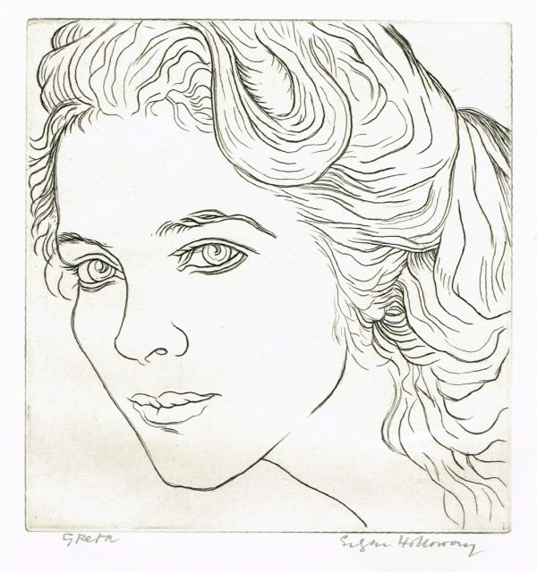 Greta Engraving by Edgar Holloway