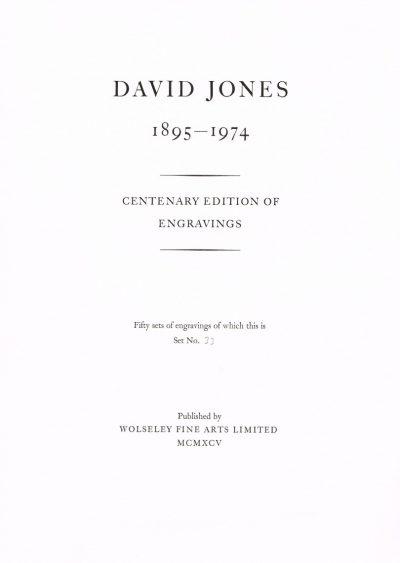 David Jones Engravings Portfolio