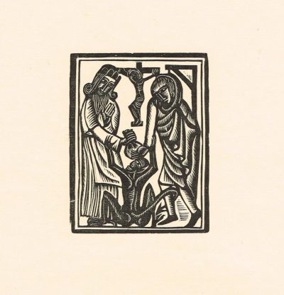 Judas with Caiaphus and the Devil