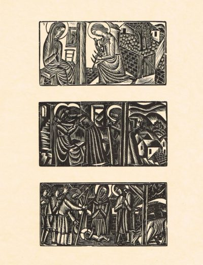 The Annunciation, Visitation and Nativity