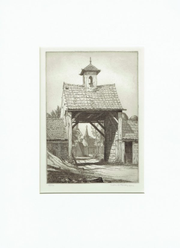 'Eastcote 1932' Etching by Edgar Holloway