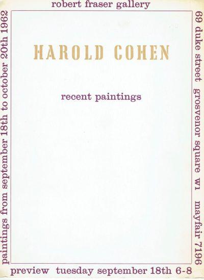 Harold Cohen Recent Paintings