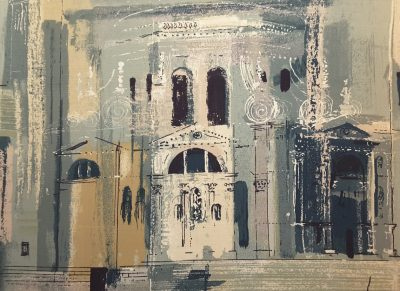 Chiesa Della Salute Fabric Panel by John Piper for Sanderson