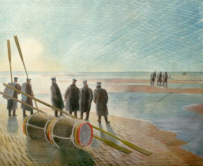 Dangerous Work at Low Tide Print by Eric Ravilious