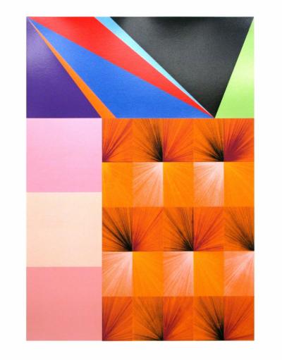 Durchgangszimmer Orange print by Lothar Götz