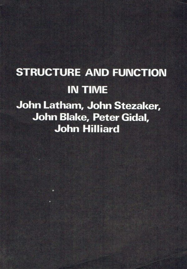 Structure and Function in Time