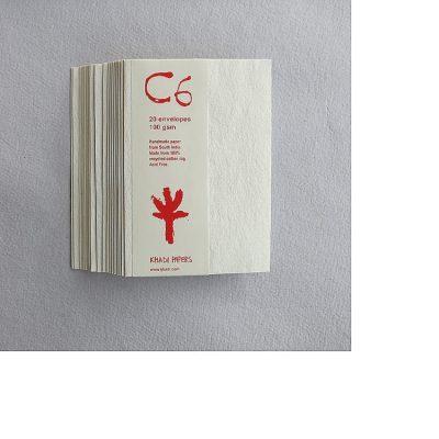 White C6 Khadi Envelope Pack