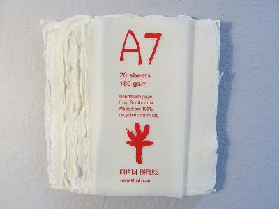 White A7 Khadi Paper Pack
