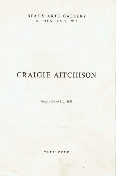 Craigie Aitchison. First One Man Exhibition