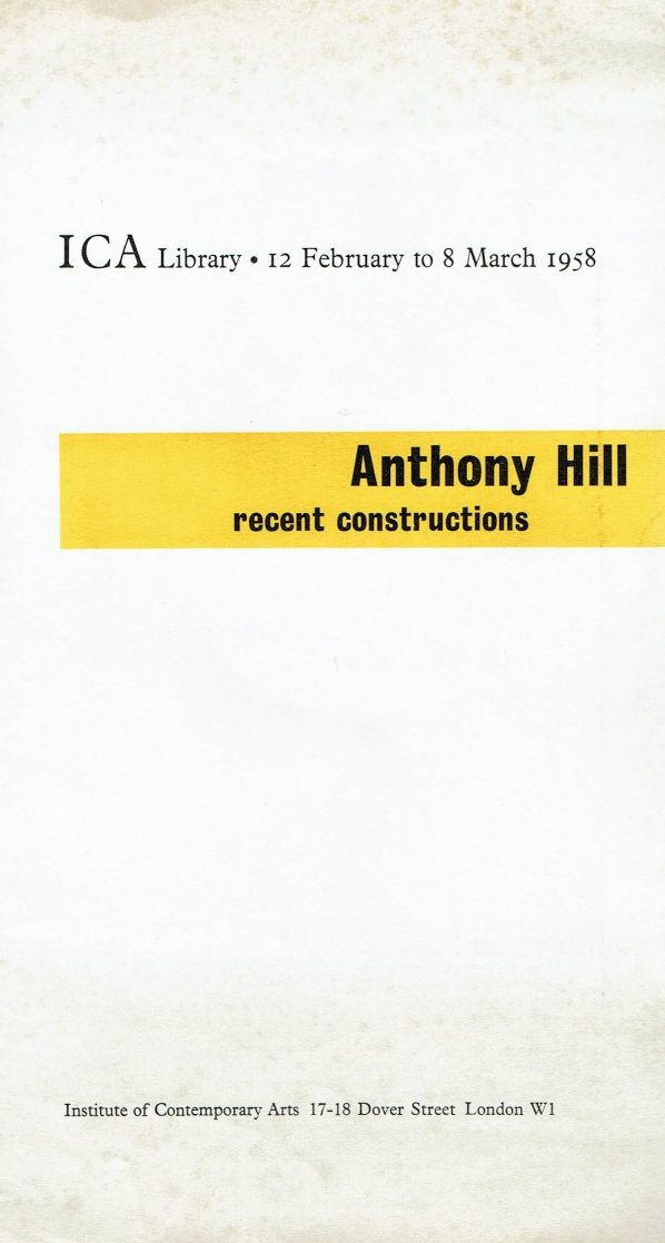 Anthony Hill. Recent Constructions