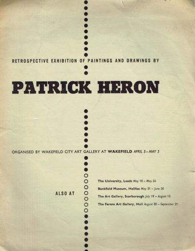 Retrospective Exhibition of Paintings and Drawing By Patrick Heron