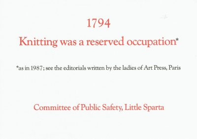 1794 Knitting was a reserved occupation