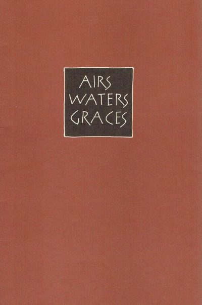 Airs Waters Graces. Signed by Ian Hamilton Finlay