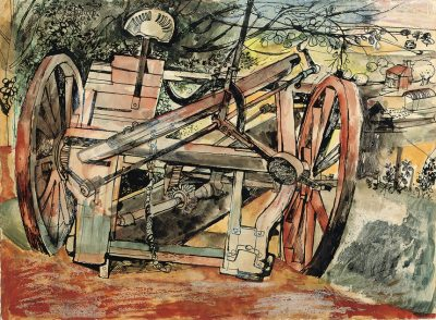 Derelict Machinery Print by John Minton
