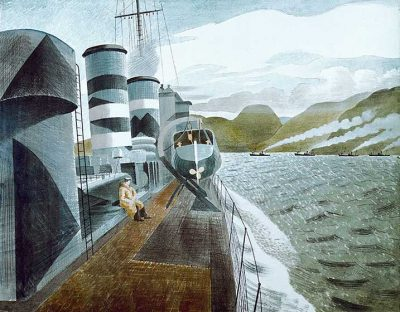 Leaving Scapa Flow Print by Eric Ravilious