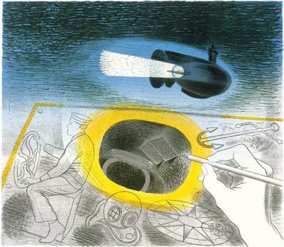 Submarine Series Introductdory Lithograph Print by Eric Ravilious