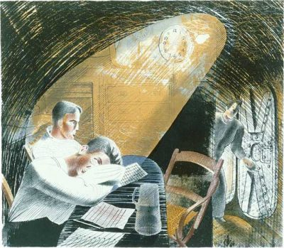 Ward Room Print by Eric Ravilious
