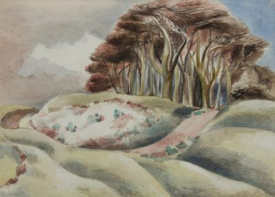 Wittenham Clumps Print by Paul Nash