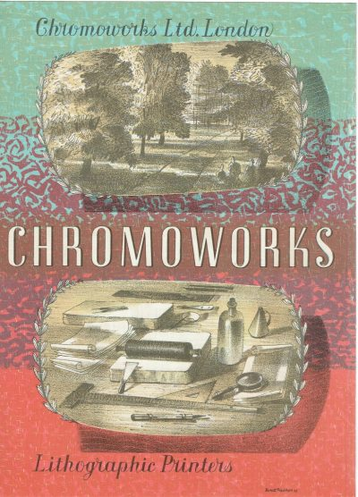Chromoworks Two-Sided Lithograph by Barnett Freedman (front)