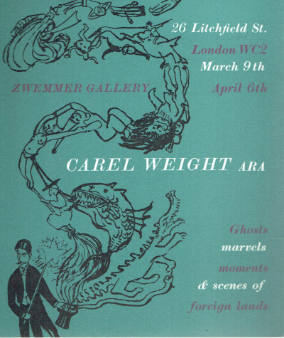 Carel Weight ARA. Private View Card