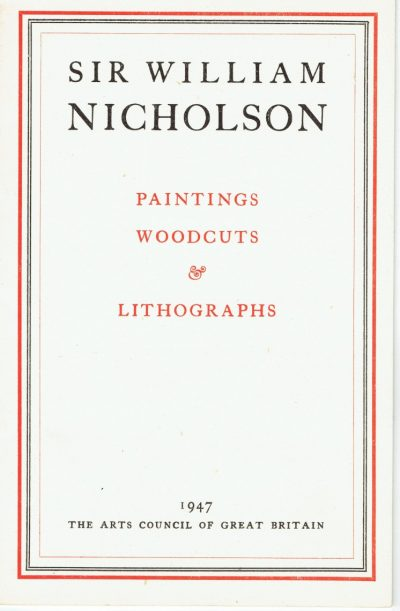 Sir William Nicholson: Paintings, Woodcuts & Lithographs