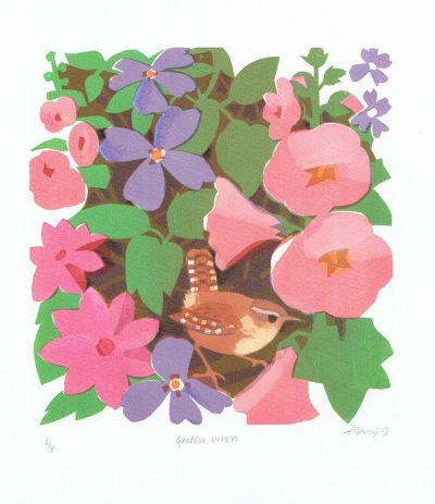 Garden Wren Print by Carry Akroyd